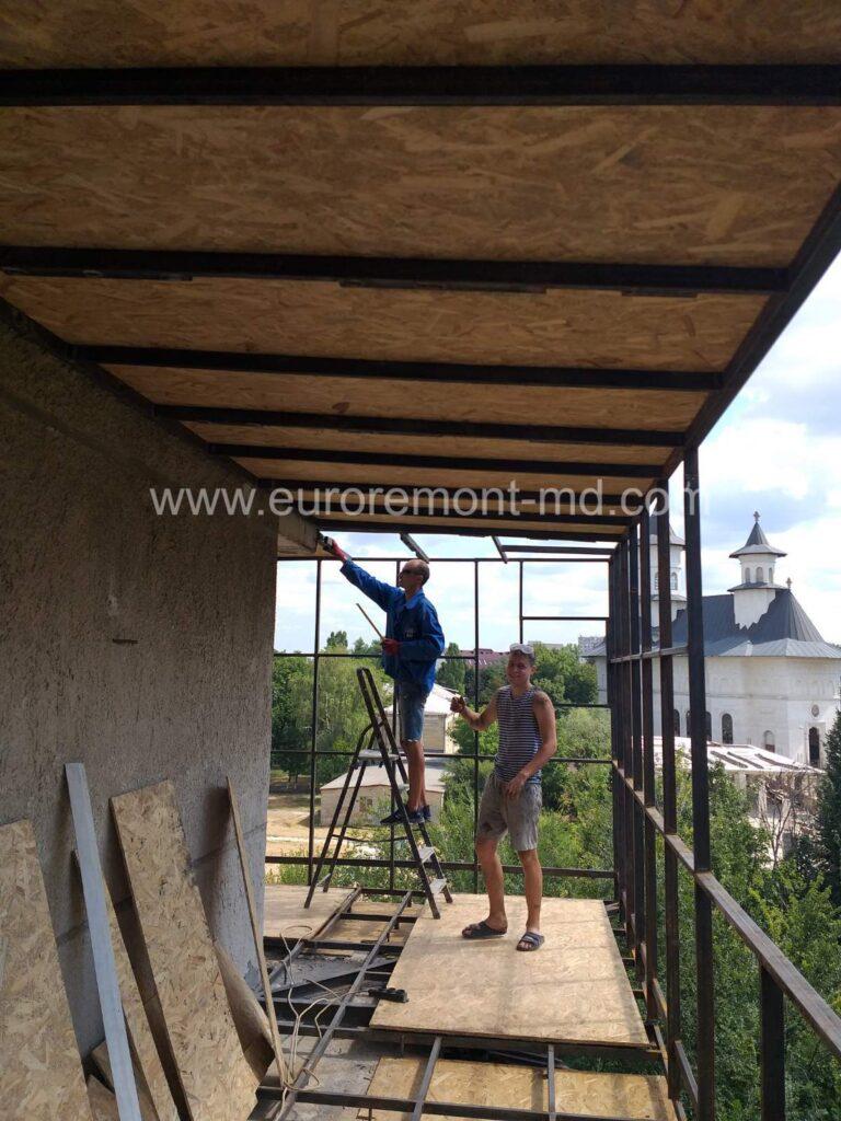 Ремонт балкона в Кишинёве
